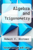 cover of Algebra and Trigonometry (6th edition)