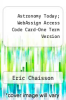 cover of Astronomy Today; WebAssign Access Code Card-One Term Version (8th edition)