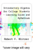 cover of Introductory Algebra for College Students - Learning Guide and Mymath (7th edition)