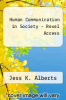 cover of Human Communication in Society - Revel Access (5th edition)
