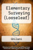 cover of Elementary Surveying (Looseleaf) (15th edition)