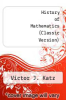 cover of History of Mathematics (Classic Version)