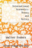 cover of International Economics: Theory and Policy