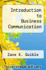cover of Introduction to Business Communication