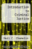 cover of Introduction to Criminal Justice (2nd edition)