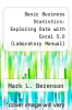 cover of Basic Business Statistics : Exploring Data with Excel 5.0 (Laboratory Manual) (6th edition)
