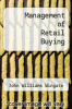 cover of Management of Retail Buying (2nd edition)
