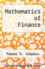 cover of Mathematics of Finance (4th edition)
