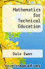 cover of Mathematics for Technical Education