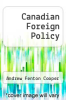 cover of Canadian Foreign Policy