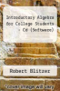 Introductory Algebra for College Students - Cd (Software) by Robert Blitzer - ISBN 9780136029243