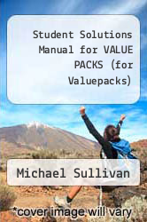 Cover of Student Solutions Manual for VALUE PACKS (for Valuepacks) 5 (ISBN 978-0136054764)