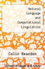cover of Natural Language and Computational Linguistics