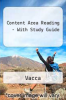 Content Area Reading - With Study Guide by Vacca - ISBN 9780137064038