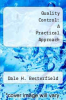 cover of Quality Control: A Practical Approach
