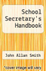 cover of School Secretary`s Handbook
