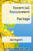 Essential Environment-Package by Withgott - ISBN 9780138135706