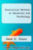cover of Statistical Methods in Education and Psychology