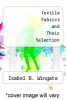 cover of Textile Fabrics and Their Selection (6th edition)