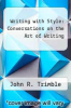 cover of Writing with Style: Conversations on the Art of Writing