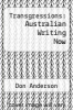 cover of Transgressions: Australian Writing Now