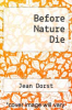 cover of Before Nature Die