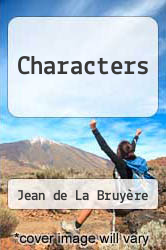 Cover of Characters EDITIONDESC (ISBN 978-0140442212)