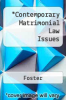 cover of Contemporary Matrimonial Law Issues