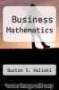 cover of Business Mathematics (2nd edition)