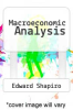 cover of Macroeconomic Analysis (3rd edition)