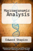 cover of Macroeconomic Analysis (5th edition)