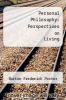 cover of Personal Philosophy: Perspectives on Living