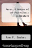 cover of Arson: A Review of the Psychiatric Literature (1st edition)
