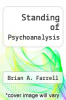 cover of Standing of Psychoanalysis