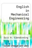 cover of English in Mechanical Engineering