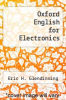 cover of Oxford English for Electronics