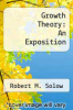 cover of Growth Theory: An Exposition
