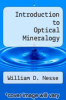 cover of Introduction to Optical Mineralogy
