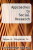 cover of Approaches to Social Research (3rd edition)