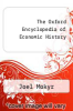 cover of The Oxford Encyclopedia of Economic History