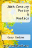 cover of 20th-Century Poetry & Poetics (2nd edition)