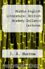 cover of Middle English Literature: British Academy Gollancz Lectures