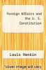 cover of Foreign Affairs and the U. S. Constitution (2nd edition)