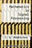cover of Mathematics in Signal Processing