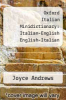 cover of Oxford Italian Minidictionary: Italian-English English-Italian