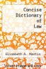 cover of Concise Dictionary of Law (2nd edition)