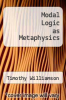 cover of Modal Logic as Metaphysics