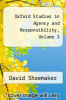 cover of Oxford Studies in Agency and Responsibility, Volume 3