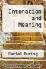 cover of Intonation and Meaning