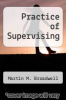 cover of Practice of Supervising